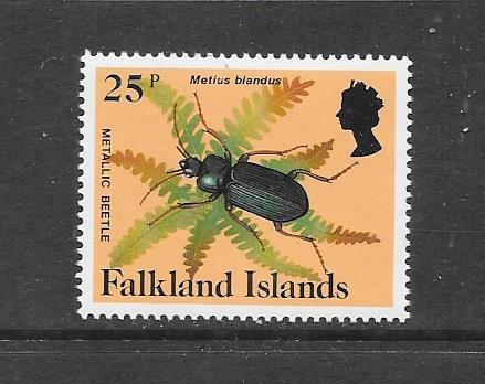 INSECTS - FALKLAND ISLANDS-#398 METALLIC BEETLE   MNH