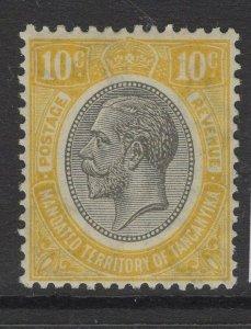 TANGANYIKA SG94 1927 10c YELLOW MTD MINT