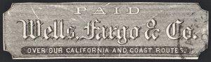 Wells Fargo California and Coast Stamp: Used