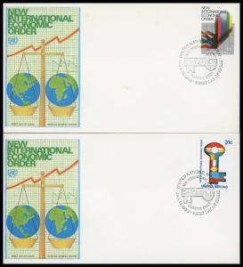 UN New York FDC #316-317 New International Economic Order - Geneva Cachet