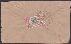 INDIA SORUTH SAURASHTRA 1944 1a on cover DELWADA cds.......................55306