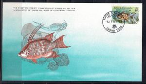 Turks & Caicos FDC card Sc 370 Cousteau Society  Hogfish L96