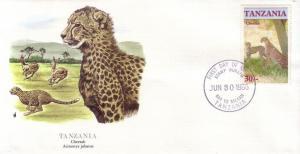Tanzania FDC SC# 322 Cheetah L355