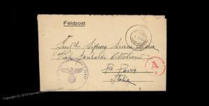 3rd Reich Germany WWII Italian Luftwaffe Volunteer Feldpost 65971