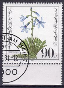 Germany 1981 Sc#B592 Water Lobella Endangered Species (1) Fine Used