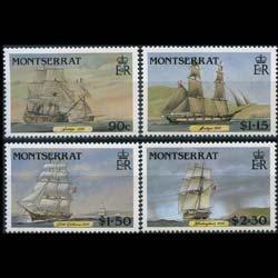 MONTSERRAT 1986 - Scott# 618-21 Clipper Ships Set of 4 NH