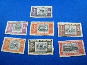 BOLIVIA  1951  -  SCOTT # C150-C156   MH