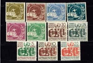 Mexico 813-18 and C158-62 NH 1946 U.N. set SC 2015 $64.25
