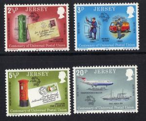 Jersey  1974 MNH centenary UPU  complete