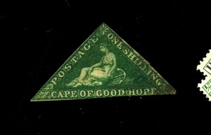 Cape Of Good hope #6 Used F-VF Paper HR's Cat $250