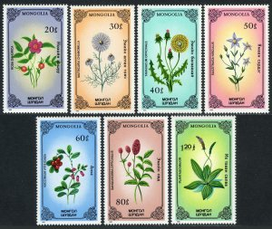 Mongolia MNH 1456-62 Indigenous Flowers