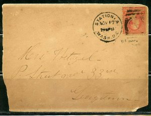 UNITED STATES FOUR  OLDER COVERS SOMEWHAT TORN AND TATTERED GREAT FRANKING