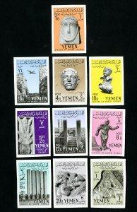 Yemen Stamps # 113-120 VF Imperf OG NH