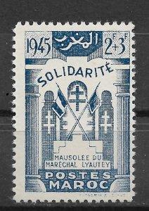French Morocco 1945, Mausoleum of Marshal Lyautey, Scott # B27, VF MNH**,(FR-1)