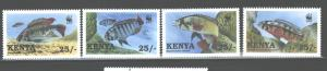 KENYA 1997  FISH  #703 - 706   MNH
