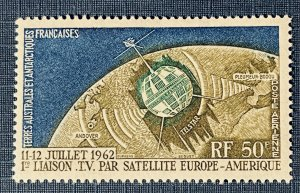 French South Antarctic Territory C5 MH Telstar Issue (SCV $29.00)