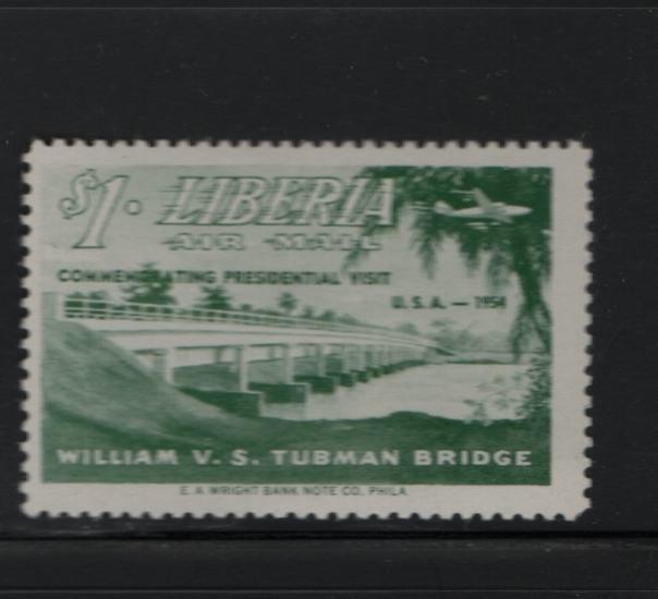 Liberia C87 H 1954 Commemorating Presidential Visit  U.S.A 1954