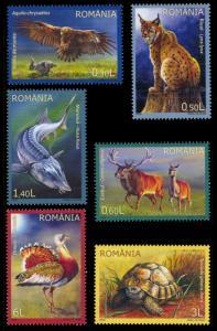 Romania 2009 Scott #5125-5130 Mint Never Hinged