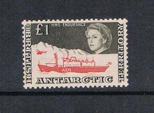 British Antarctic Territory 1969 QEII £1 Sc 24 MNH