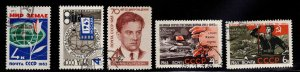 Russia Scott 2754-2758 Used CTO  stamps