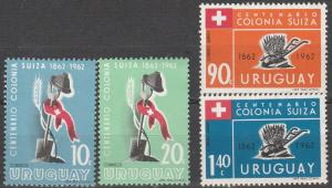 Uruguay #689-90, C245-6   MNH   (S7805L)