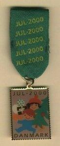 Denmark Christmas Seal  2000  Walk  Medal. Christmas Tree.Gift,Children.