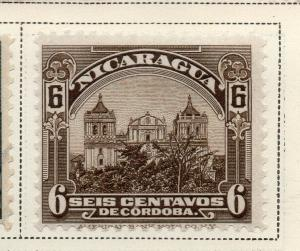 Nicaragua 1914-22 Early Issue Fine Mint Hinged 6c. 323632
