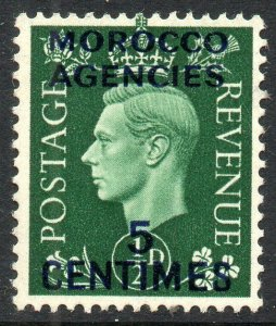 1937 Sg 230 5c on ½d green Morocco Agencies Overprint Mounted Mint