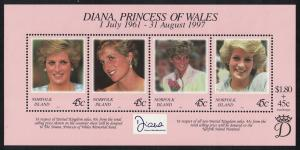 Norfolk Diana Princess of Wales Commemoration MS SG#MS665 SC#645