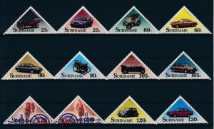 [SU621] Suriname Surinam 1989 Classic Cars Triangles  MNH