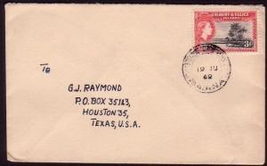 GILBERT & ELLICE IS 1962 cover MAIANA to USA 3d rate..........37297