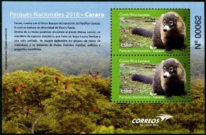 HERRICKSTAMP NEW ISSUES COSTA RICA Sc.# 699a National Park 2018 S/S
