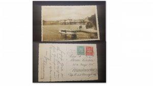 U) 1925, GERMANY, CIRCA, HAMBURG LOOK AT THE NEVEN JUNGFERNSTIEG, POSTAL