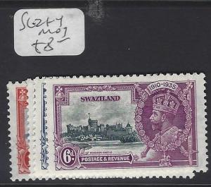 SWAZILAND  (P1510B)  KGV  SILVER  JUBILEE  SG 21-4   MOG