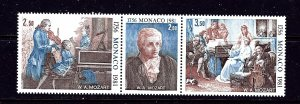 Monaco 1277a MNH 1981 Mozart strip of 3  #2