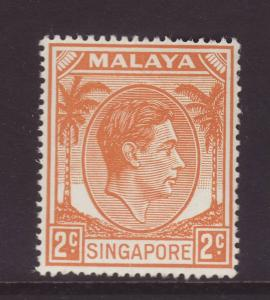 1949 Singapore 2c Perf 17½ x 18 U/Mint SG17