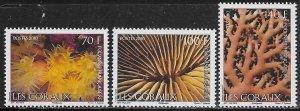 French Polynesia Scott #'s 1024 - 1026 MNH
