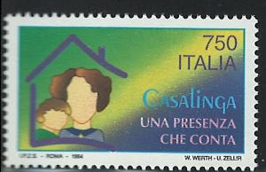 Italy Scott 1963 MNH! Presence of Women in the Home!