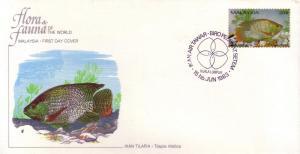 Malaysia FDC SC# 257a Ikan Tilapia L227