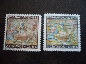 Stamps - Cuba - Scott# 588-589 - Used Set of 2 Stamps