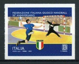 Italy Sports Stamps 2019 MNH Handball Federation 50 Years 1v S/A Set