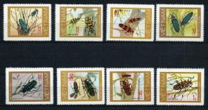 Viet Nam 876-883, MNH, Insects Beetles1977. x28040