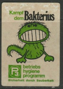 Hygiene Against Bacteria Campaign Cinderella Poster Stamp Reklamemarken A7P5F845