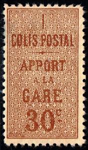 FRANCE STAMP PARCEL POST STAMP  1918 -1923 New Values 30C MH/OG light crease