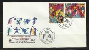 UN Geneva 1996 Sports and the Environment S Scott 169-70 FDC