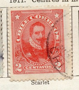 Chile 1911 Early Issue Fine Used 2c. NW-11438