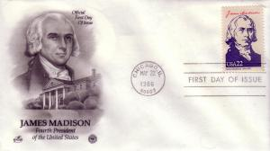 U.S. FDC Sc.# 2216d James Madison, Artcraft L617