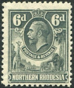 NORTHERN RHODESIA-1925-29 6d Slate-Grey Sg 7 UNMOUNTED MINT V35925