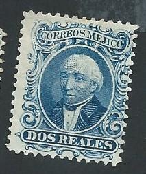 Mexico Scott #15a 2r Hidalgo MNG (1864)