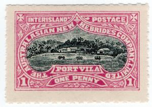 (I.B) New Hebrides Postal : Interisland Postage 1d